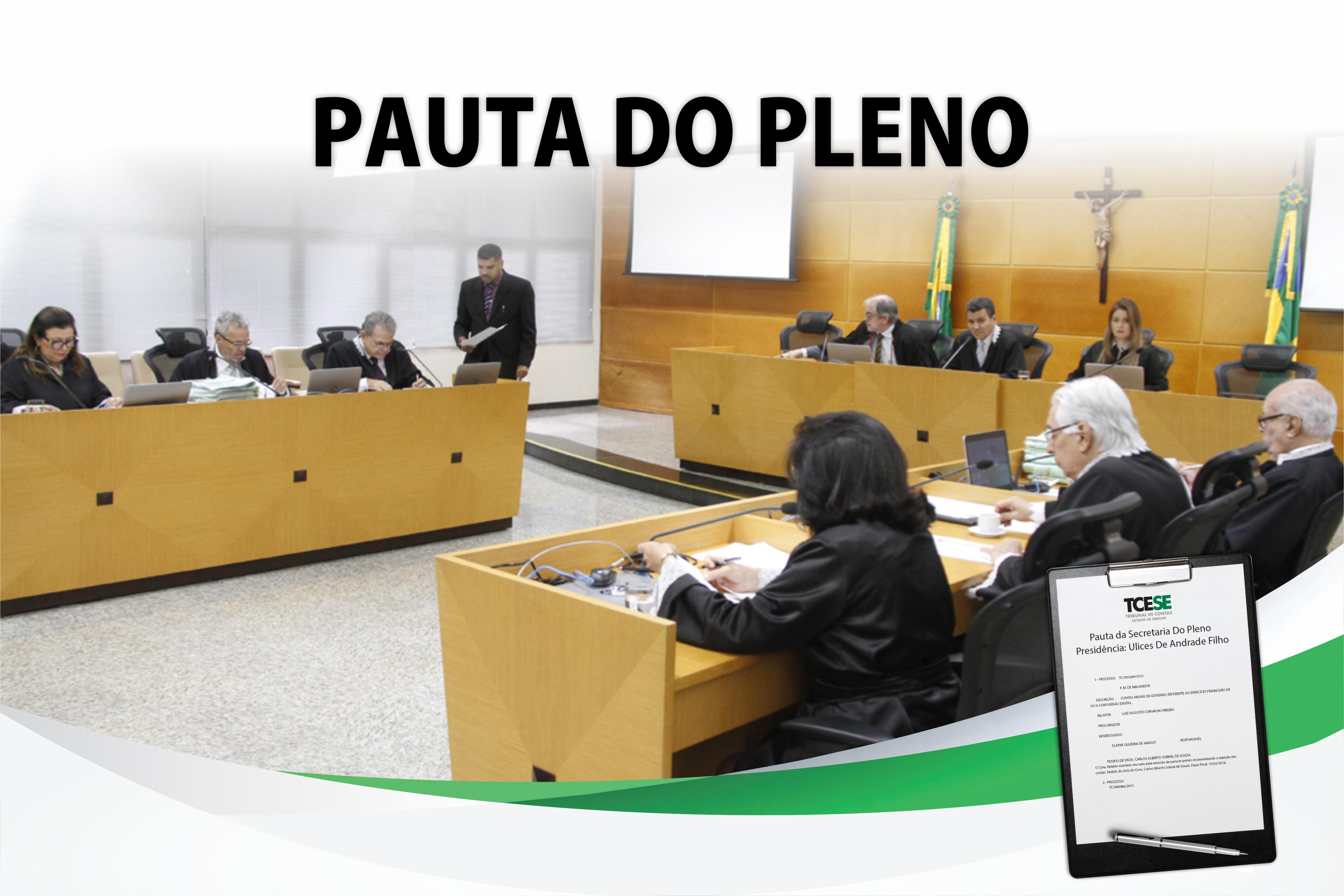 Confira a pauta da sessão plenária do Tribunal de Contas