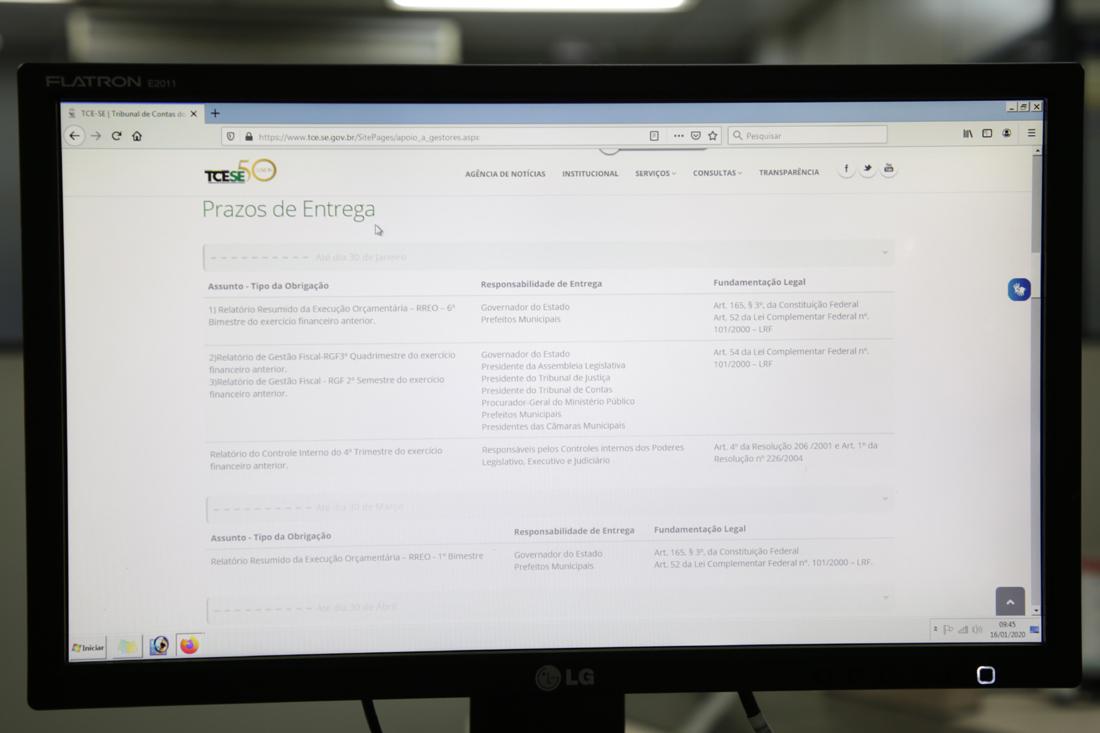 Calendário do TCE sintetiza obrigações dos gestores públicos ao prestarem contas
