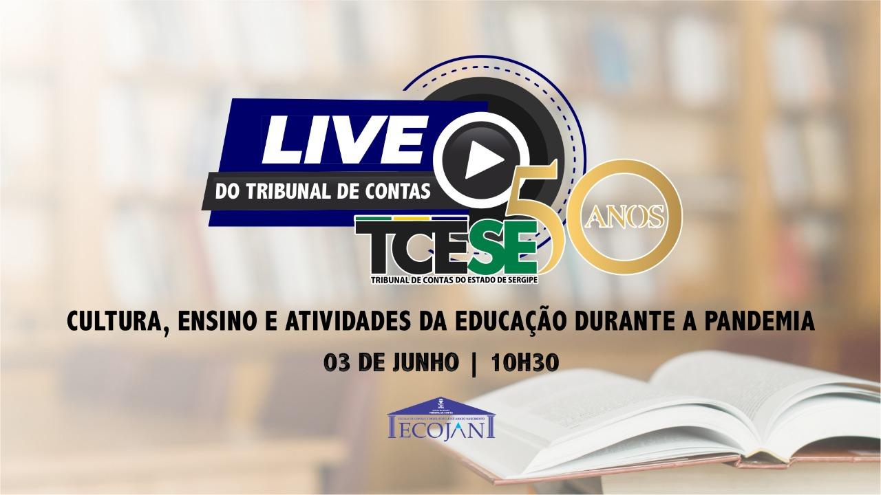 """Tribunal promove a live """"Cultura, ensino e atividades da educação durante a pandemia"""""""