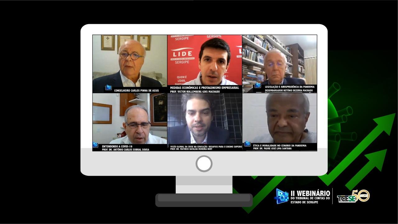 II Webinário do TCE/SE debate estratégias para vencer a crise da pandemia