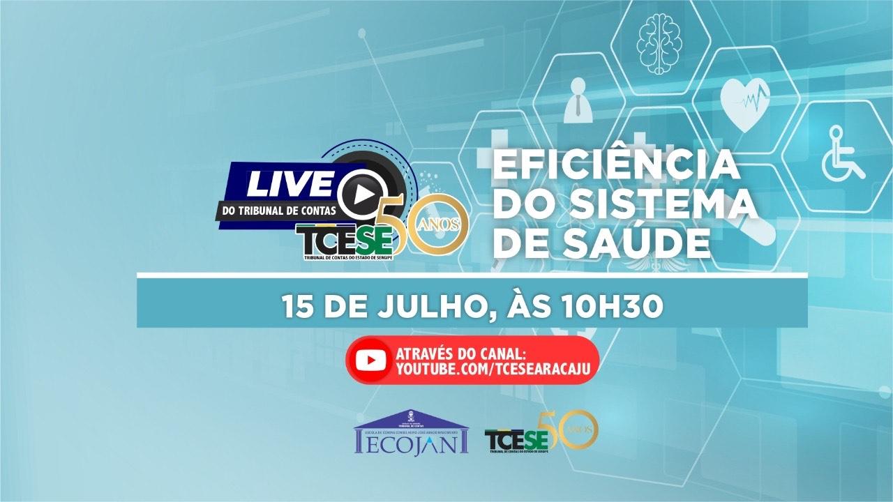 Eficiência do sistema de saúde é pauta de live do TCE/SE