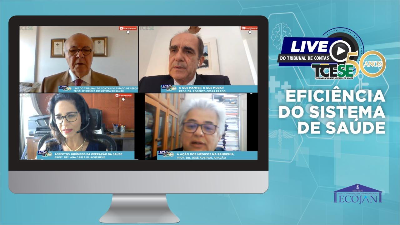 Live do Tribunal de Contas debate a eficiência do sistema de saúde