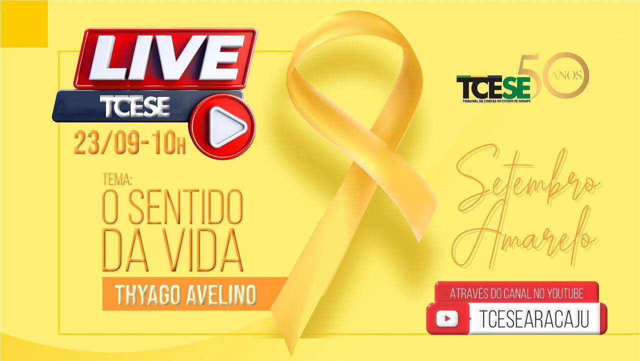 TCE promove Live alusiva ao Setembro Amarelo