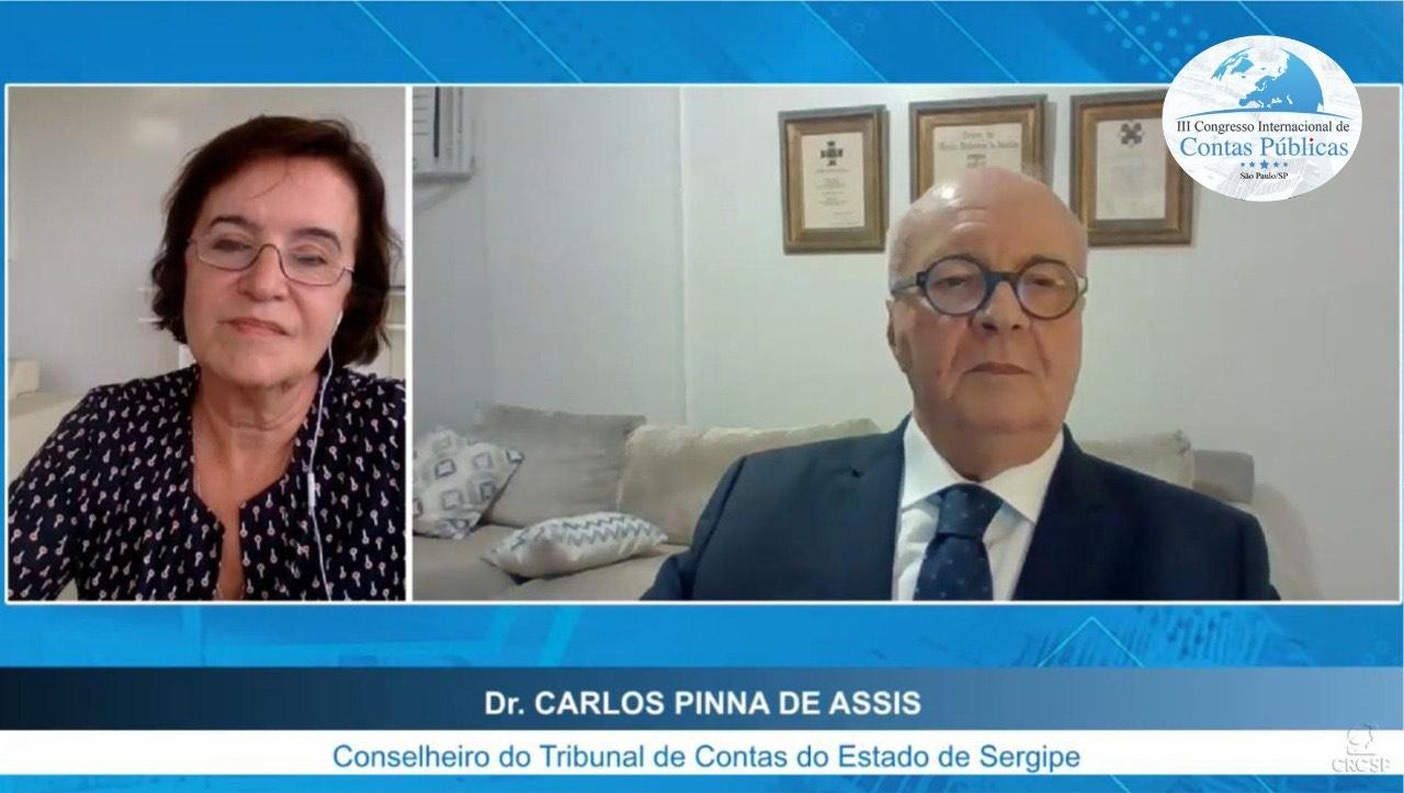 Conselheiro Carlos Pinna preside mesa de abertura do III Congresso Internacional de Contas Públicas