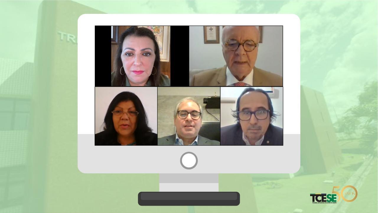 Conselheiros julgam 35 processos em sessão virtual da Primeira Câmara do TCE