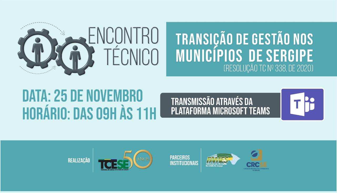 TCE promove Encontro Técnico sobre transição de governo nas prefeituras sergipanas