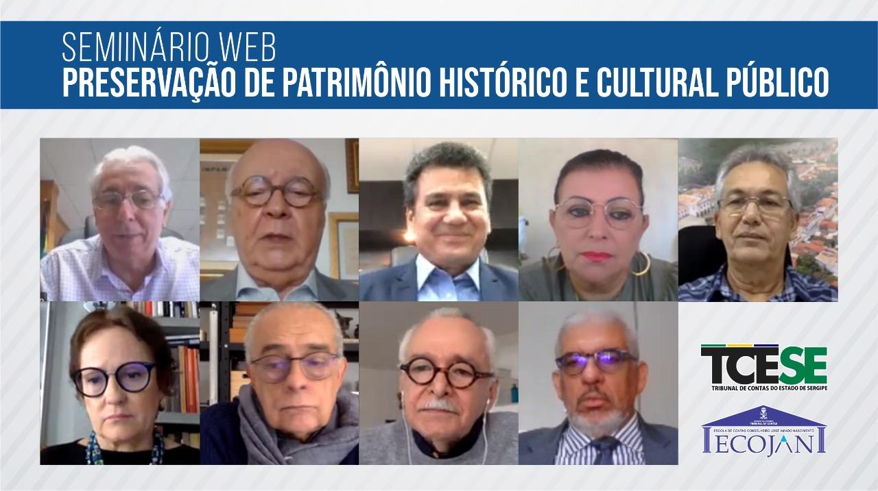 Escola de Contas: Seminário Web destaca importância da preservação do patrimônio histórico e cultural