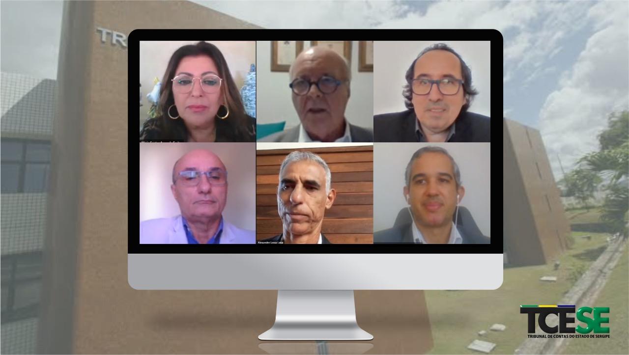 Conselheiros julgam 31 processos em sessão online da Primeira Câmara do TCE